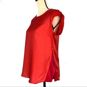 The Limited Coral Red Button Closure Blouse